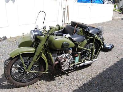 Motorcycle Ural M72 1943