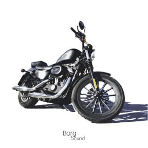 Harley Davidson Sportster Iron 883, square with Borg Sound logo