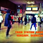 Train Station Ambience - Hungary, Debrecen city wide